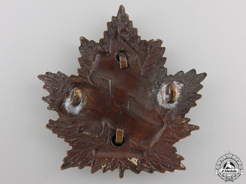 "A First War 7th Infantry Battalion ""1st British Columbia Regiment"" Cap Badge"