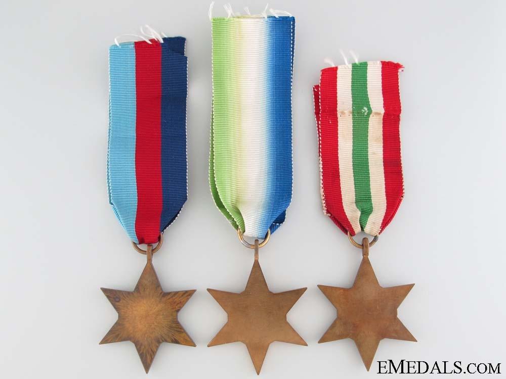 Three Second World War Campaign Stars