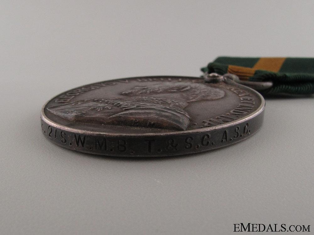 Territorial Efficiency Medal - Sgt. Mjr. Crease