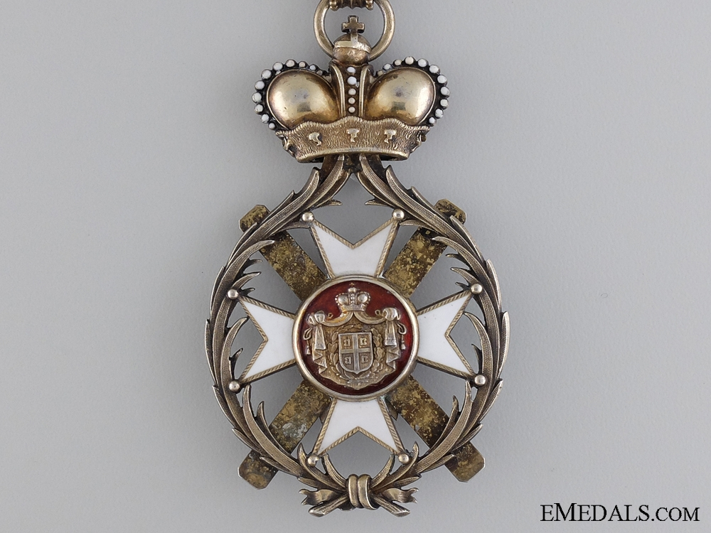 The Serbian Order of Takovo; Grand Officer Set by Rothe: 1st Model (1878-1882)