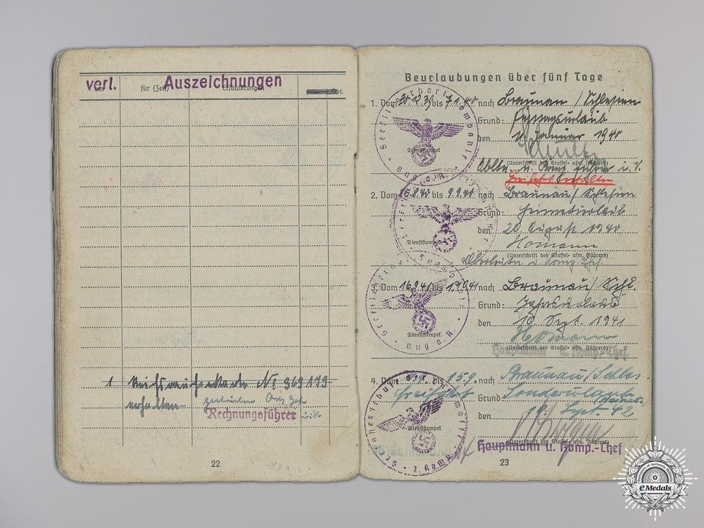 A Soldbuch to the 7th Fallschirmjäger Regiment; KIA 1945