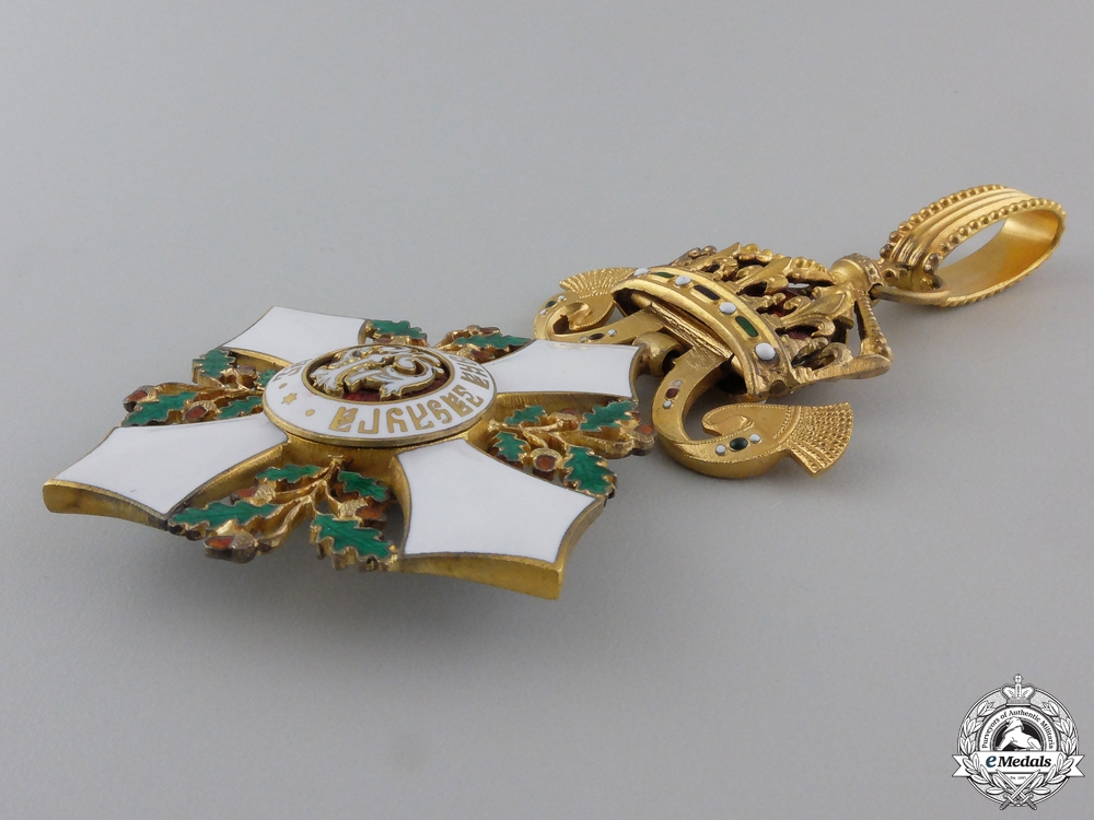 A Bulgarian Order of Civil Merit; Commander's Cross by Godet