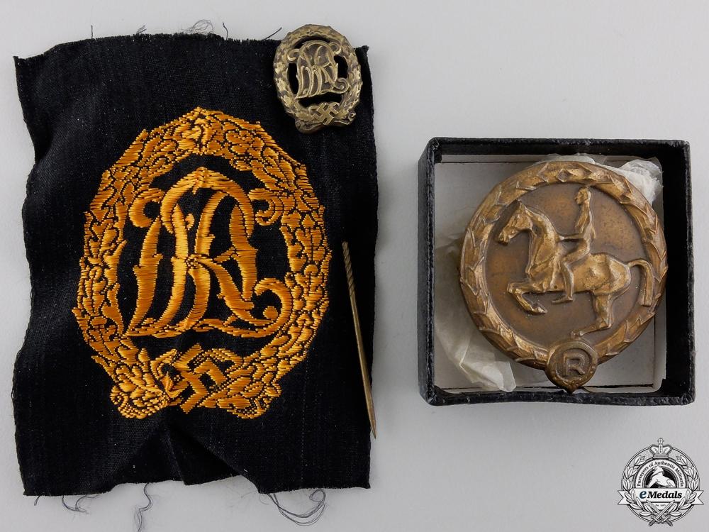 A German Cross in Gold Grouping to Kompanieführer 5./Gr.Rgt.1