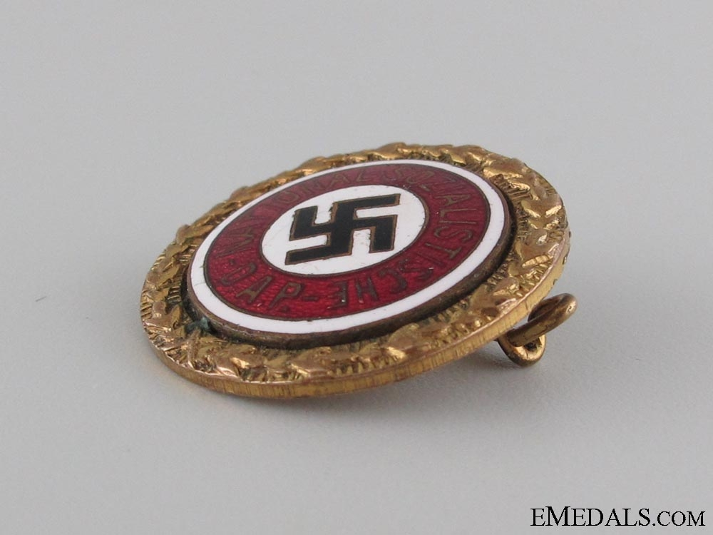Small NSDAP Golden Party Badge