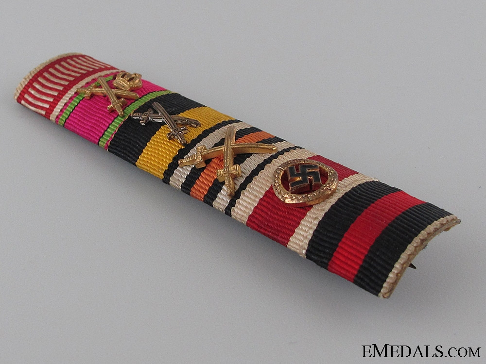 A Fine Six Decoration Ribbon Bar