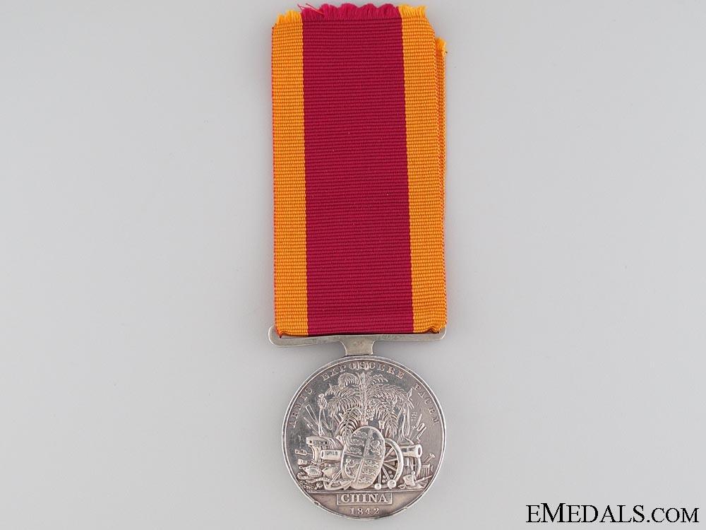 China War Medal 1841-1842; 18th Regiment of Foot