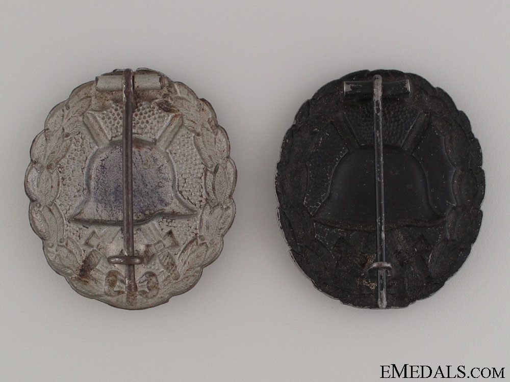 Two WWI German Wound Badges
