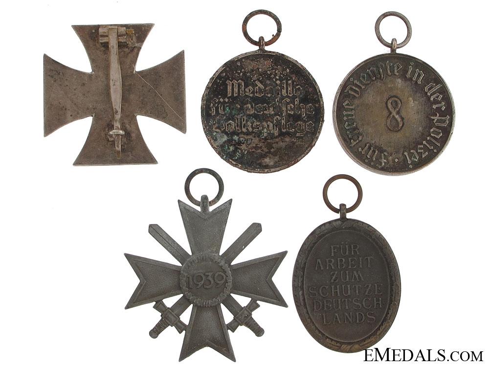 Five WWII German Medals
