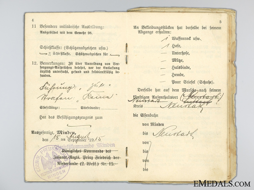 WWI 1917 Roeux Bravery Group to Gefr.Dettmering