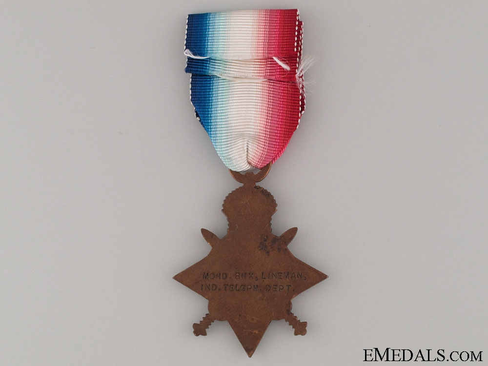 WWI 1914-15 Star - Indian Telegraph Department