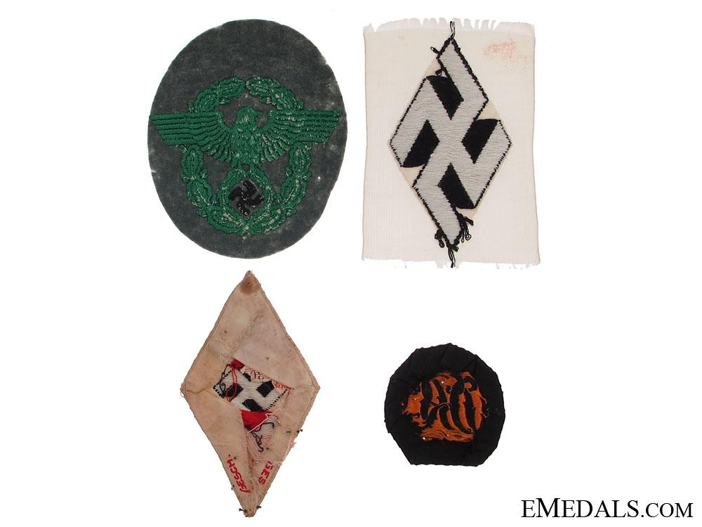 Four German Cloth Items