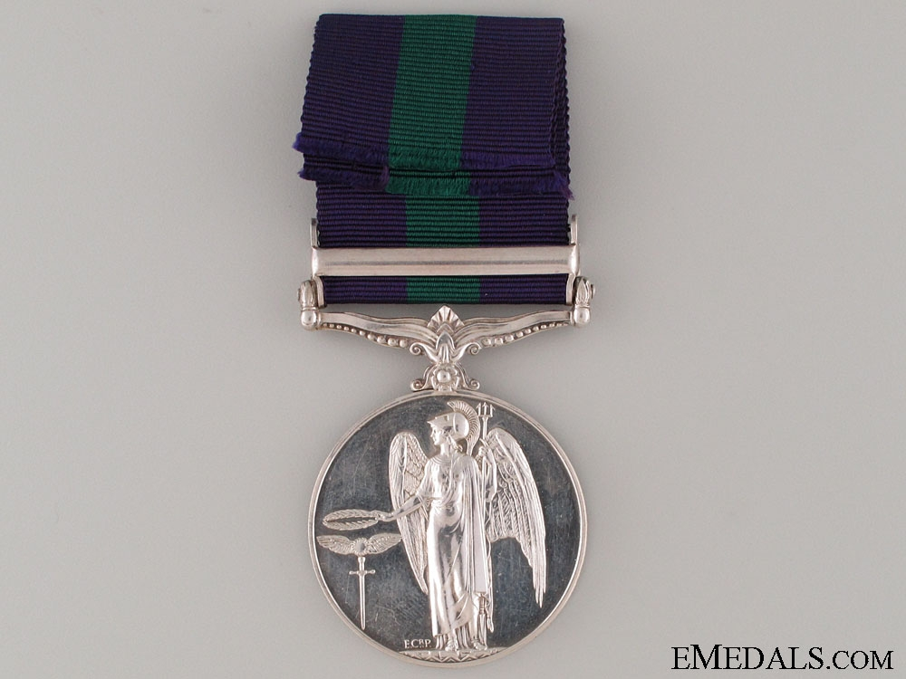 General Service Medal - Warwickshire Regiment