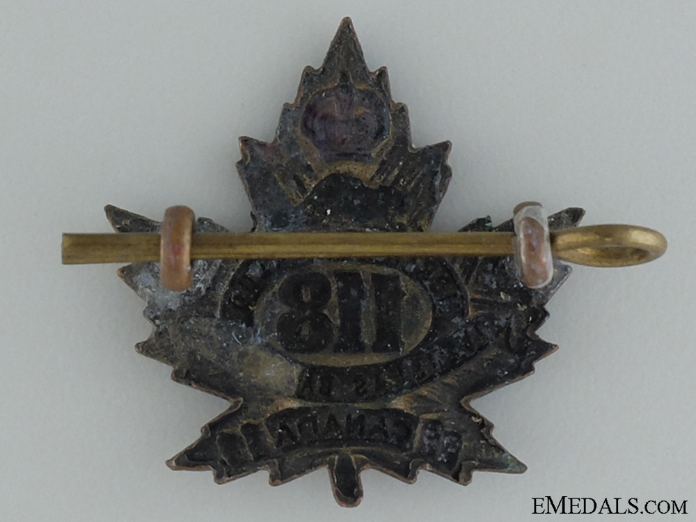 WWI 118th Infantry Battalion Collar Badge CEF
