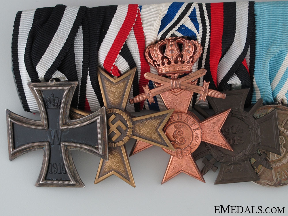 A Bavarian Long Service Medal Bar