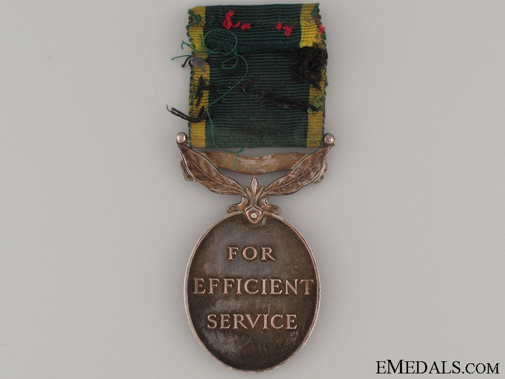 Efficiency Medal - Territorial & 2 Bar