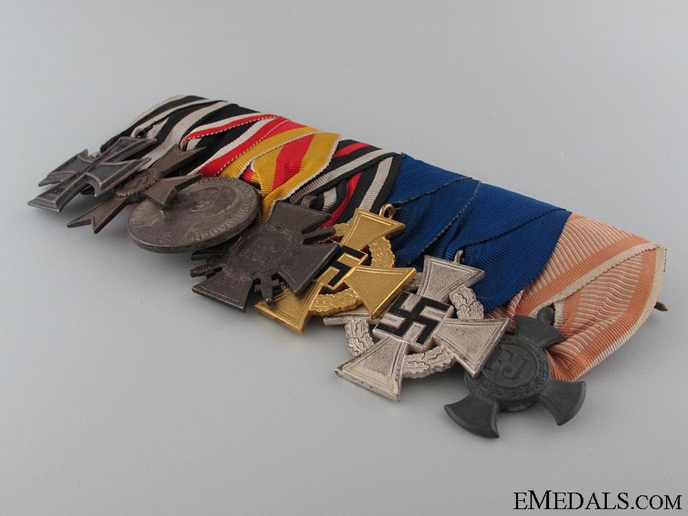 A German WWI & Faithful Service Medal Bar