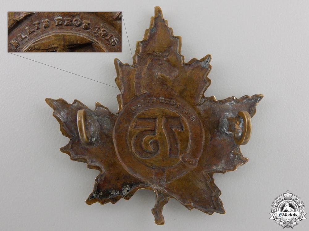 A First War 75th Infantry Battalion Cap Badge