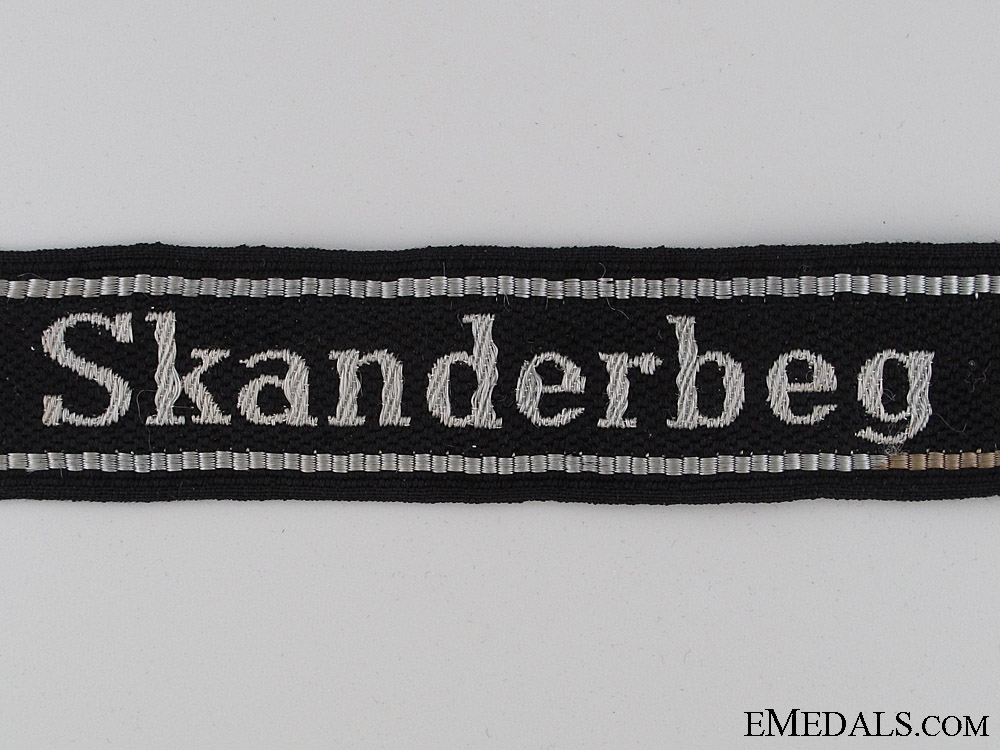 Waffen-SS Skanderbeg Cufftitle