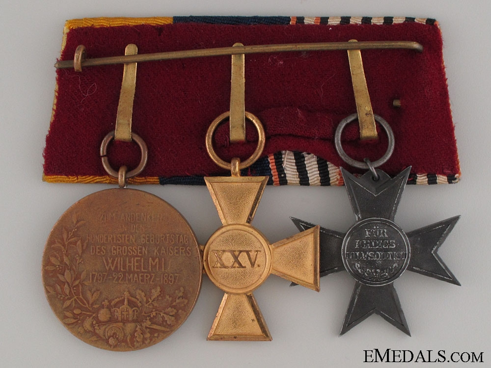 Prussian Veteran's Group of Three