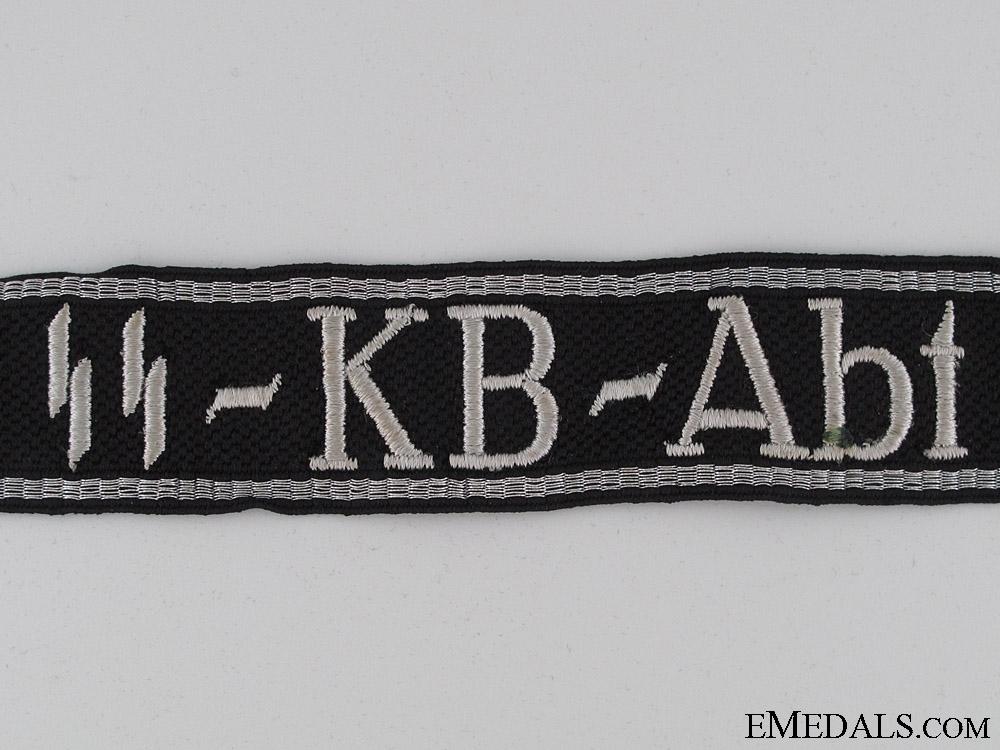 """Waffen-SS """"SS-KB-Abt"""" Cufftitle"""