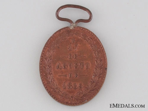 An 1865 Yatay Medal