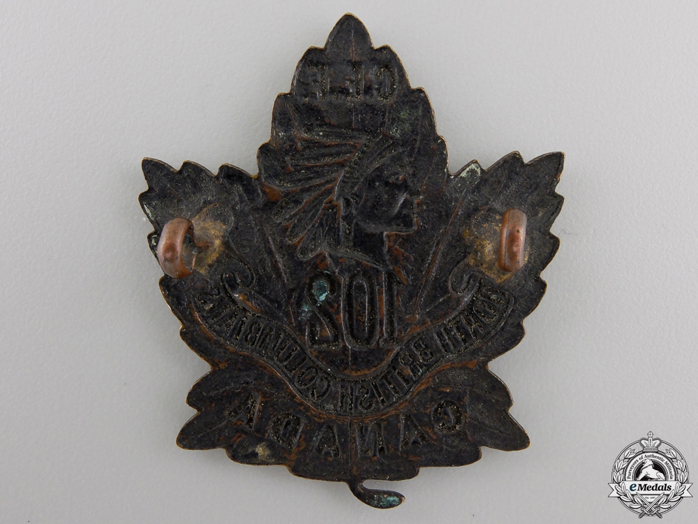 A First War 102nd Infantry Battalion Cap Badge