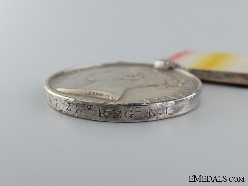 1843 Scinde Medal to the 21st Regiment for Hyderabad