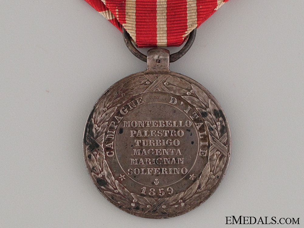 taly Campaign Medal 1859