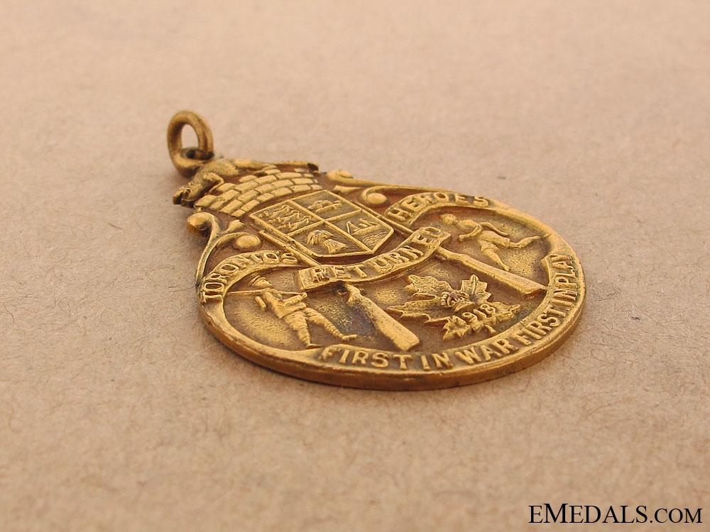1918 Heroes of Toronto Athletics Medal