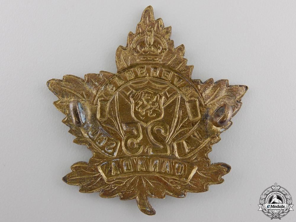 "A First War 25th Infantry Battalion ""Victoria Rifles"" Cap Badge"