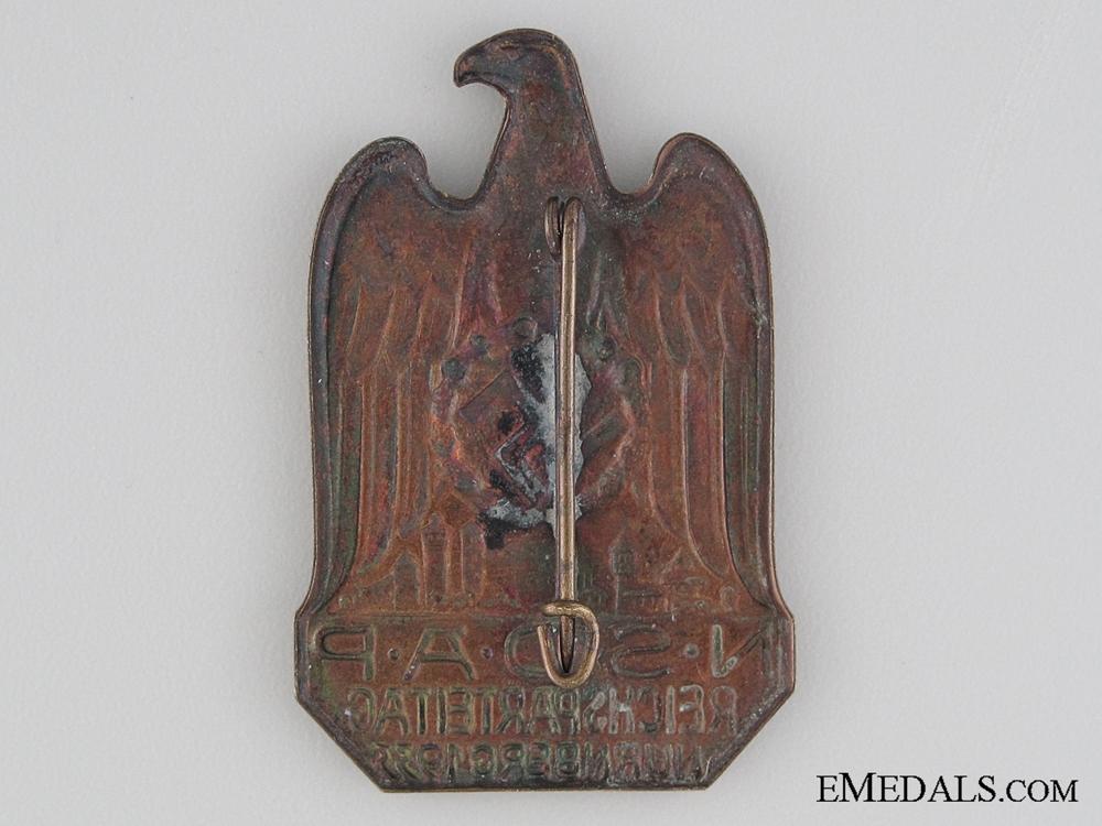 1933 NSDAP Nurnberg Tinnie