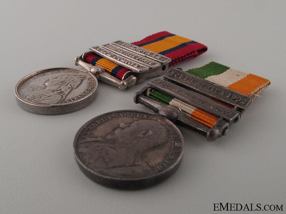 A Boer War Miniature Pair