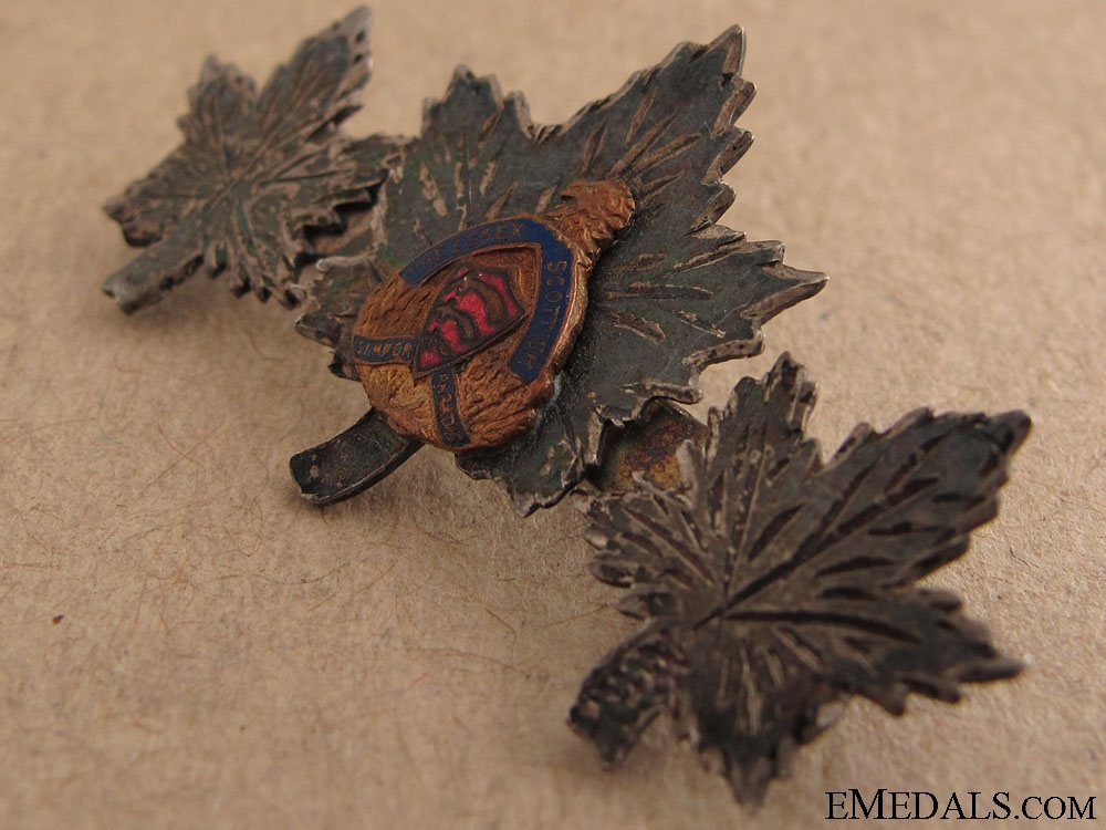 WWII Essex Scottish Sweetheart Pin