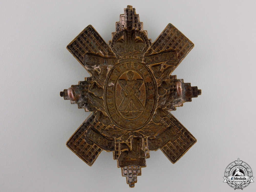 "A First War 42nd Battalion ""Royal Highlanders of Canada"" Badge"
