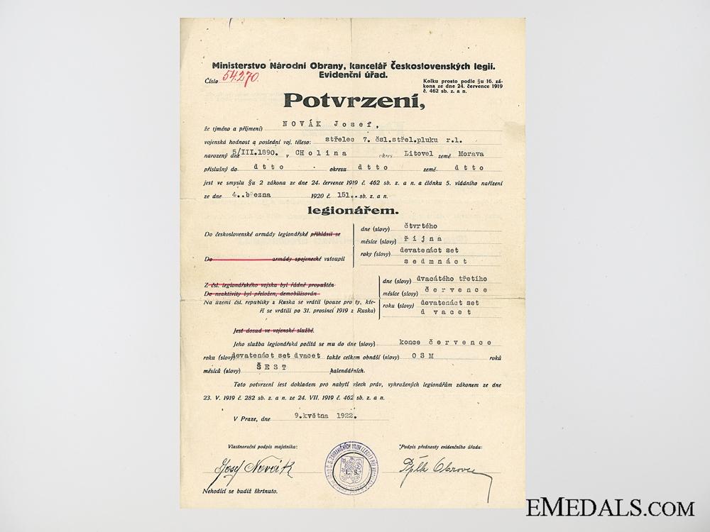 An Austrian First War Group to Rittmeister Josef Pomberger