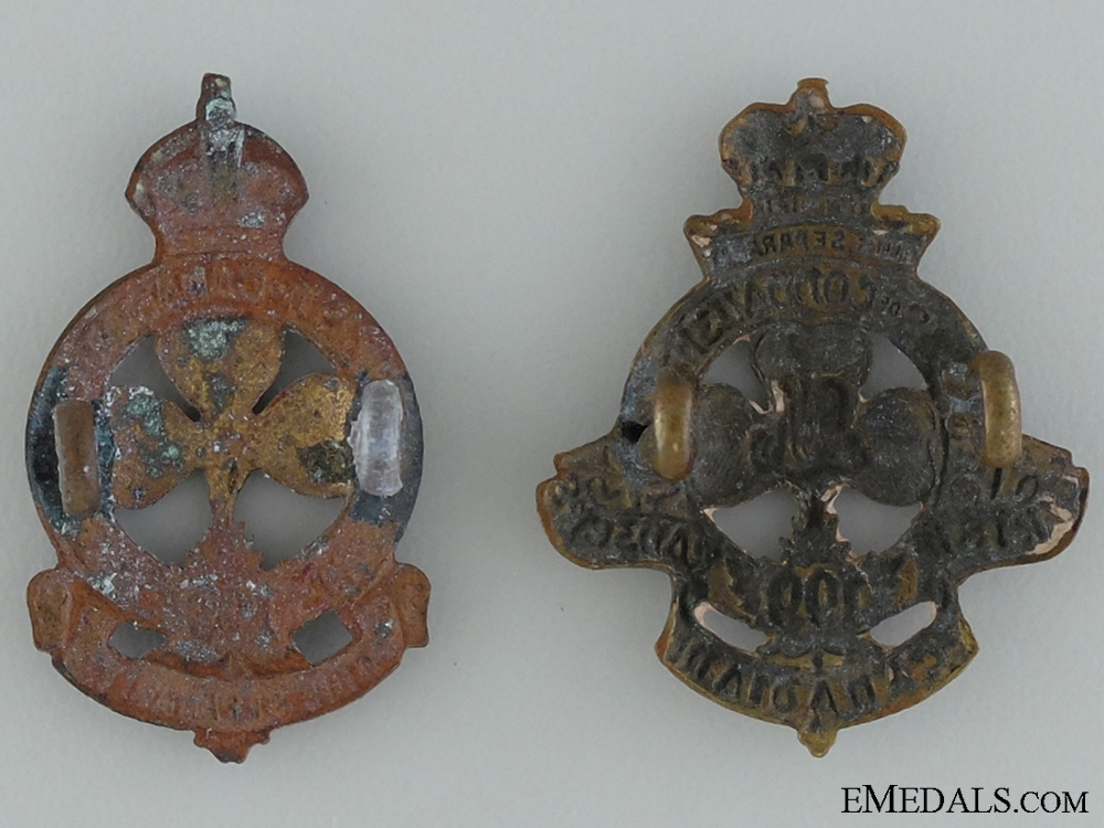 WWI 199th Infantry Battalion Collar Badge Pair CEF