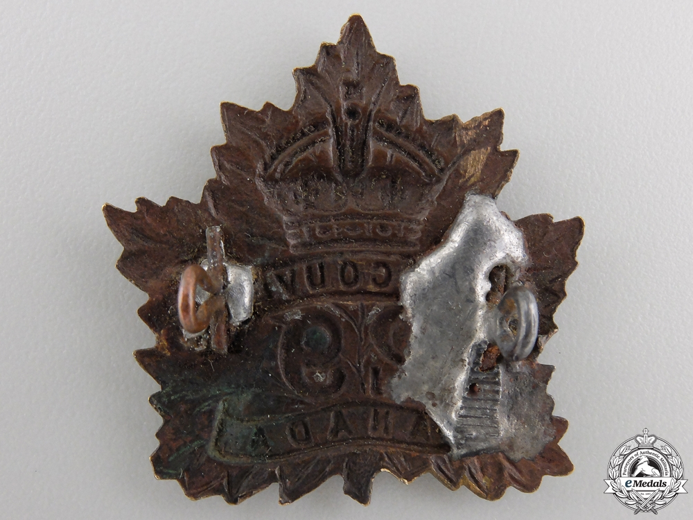 "A First War 29th Infantry Battalion ""Tobin's Tigers"" Cap Badge"