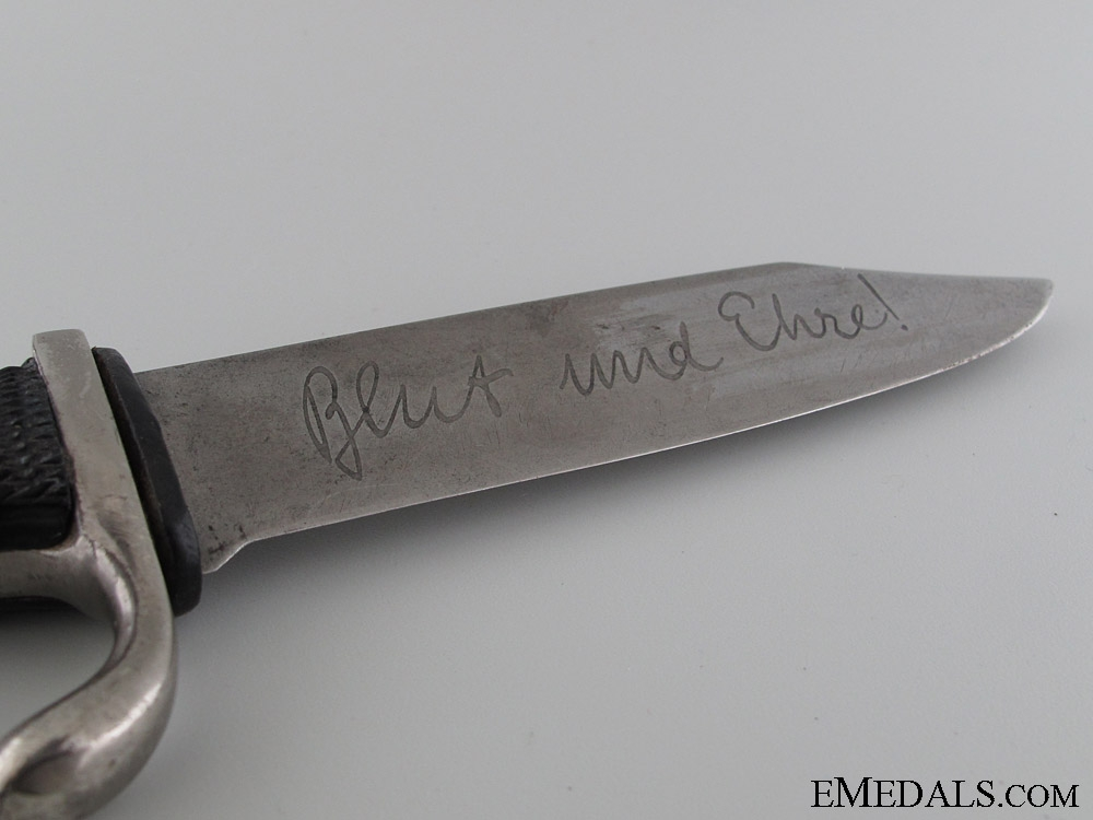 Early Hitler Youth Knife with Motto by Tiger