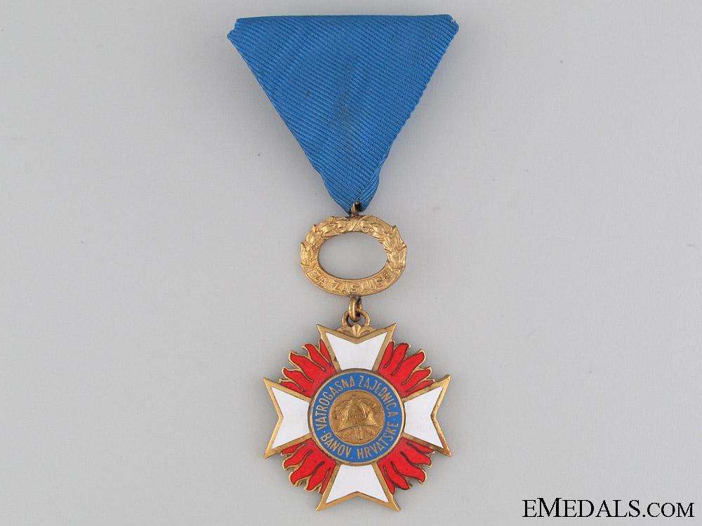 """Croatian Fireman""""¢¯s Merit Award c.1940"""