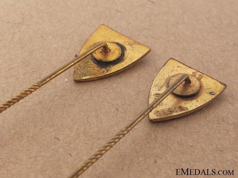 Two German Veterans Association Stickpins