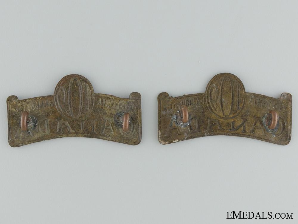"""109th Infantry """"Victoria and Haliburton Battalion"""" Officer's Shoulder Titles"""