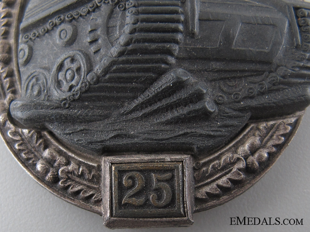 Tank Badge Grade II – Silver Grade by JFS