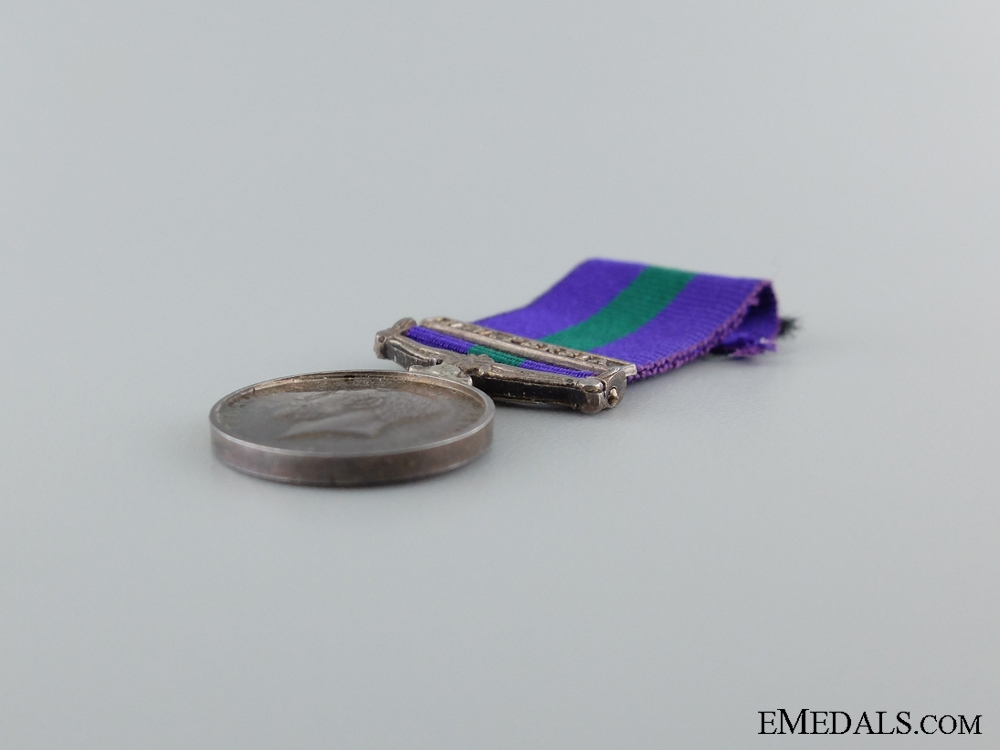 A Miniature General Service Medal 1918-1962