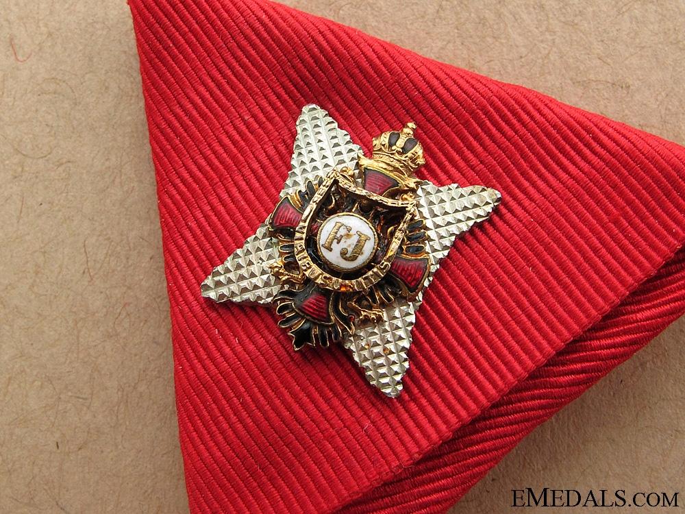 An Order of Franz Joseph in Gold
