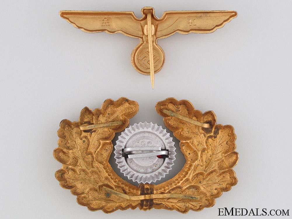Kriegsmarine Visor Cap Insignia by Assmann
