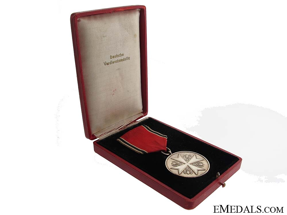 A Cased German Eagle Order Merit Medal
