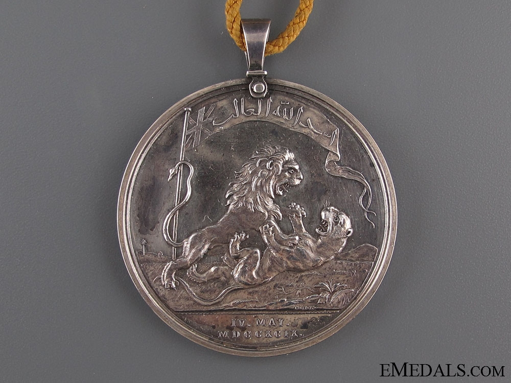 Seringapatam Medal 1799