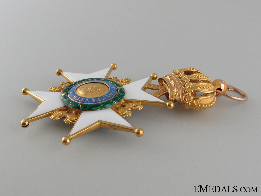 A Saxe-Ernestine House Order in Gold; Grand Cross Badge