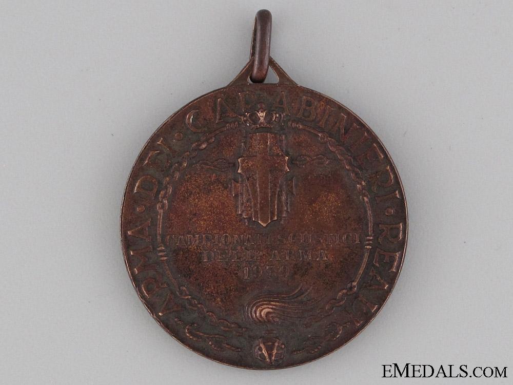 Carabinieri Ski Championships Medal 1939