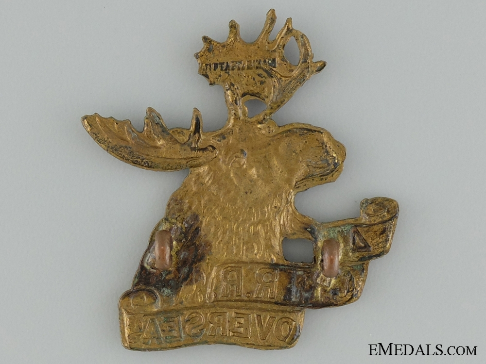 WWI 4th Mounted Rifle Battalion Cap Badge; 2nd Version